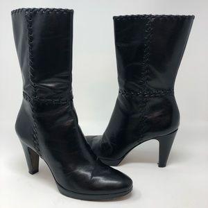 Antonio Melani Black Leather Boots Size 7